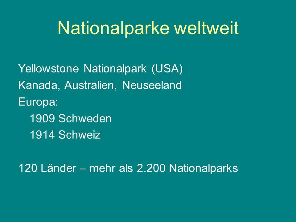Nationalparke weltweit