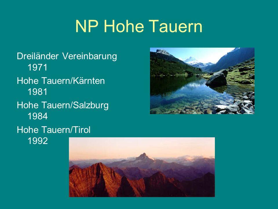 NP Hohe Tauern Dreiländer Vereinbarung 1971 Hohe Tauern/Kärnten 1981