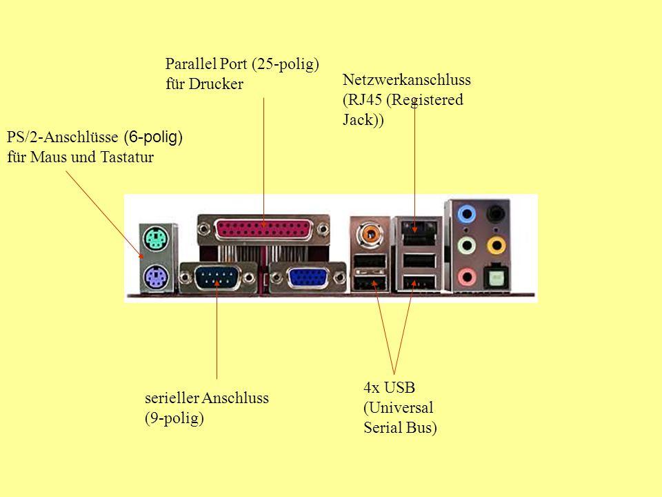 Parallel Port (25-polig) für Drucker