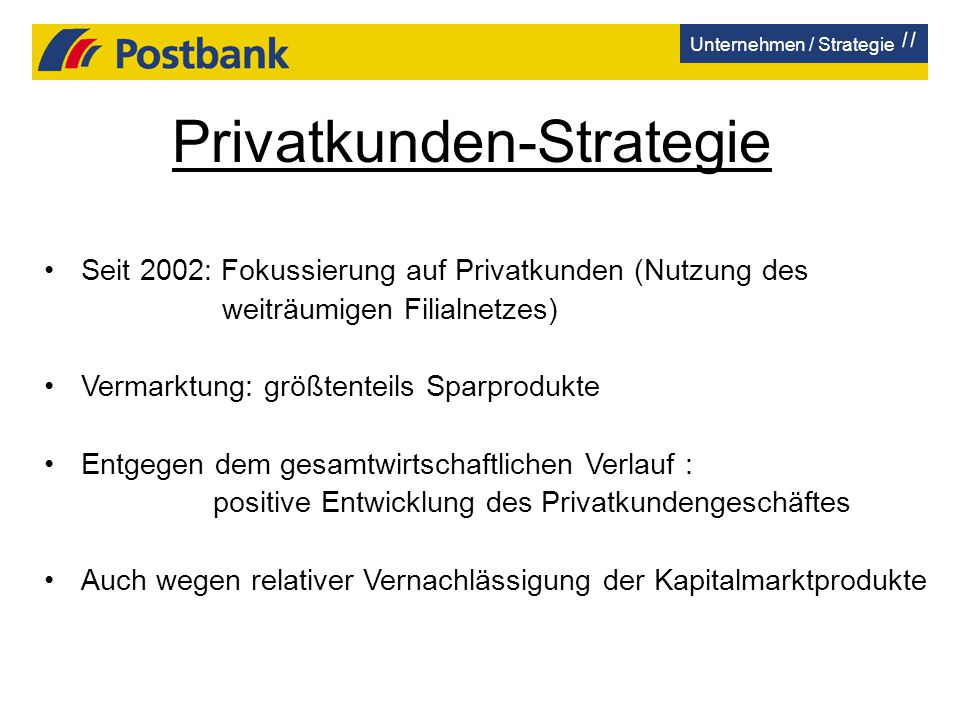 Privatkunden-Strategie