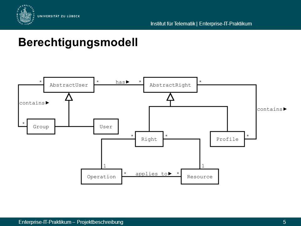 Berechtigungsmodell Enterprise-IT-Praktikum – Projektbeschreibung 5 5