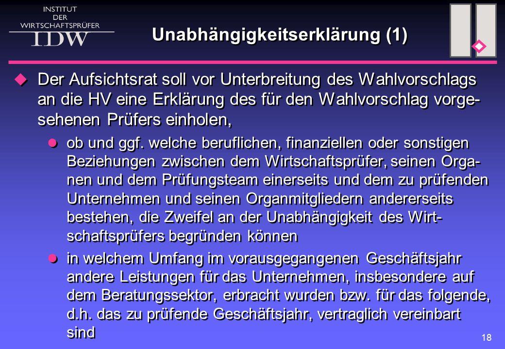 Unabhängigkeitserklärung (1)