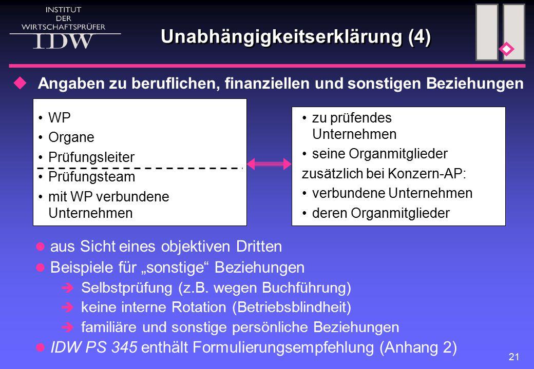 Unabhängigkeitserklärung (4)