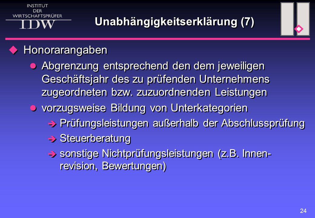 Unabhängigkeitserklärung (7)