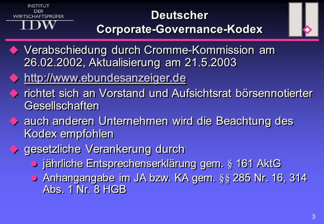 Deutscher Corporate-Governance-Kodex