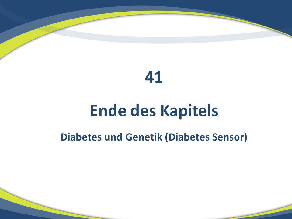 Diabetes und Genetik (Diabetes Sensor)