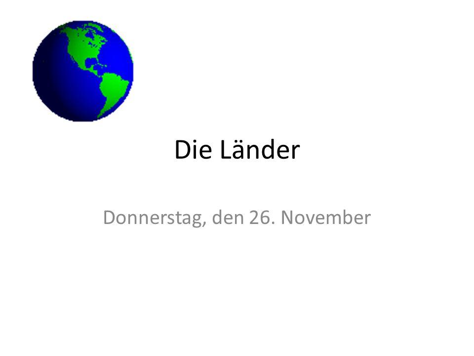 Donnerstag, den 26. November