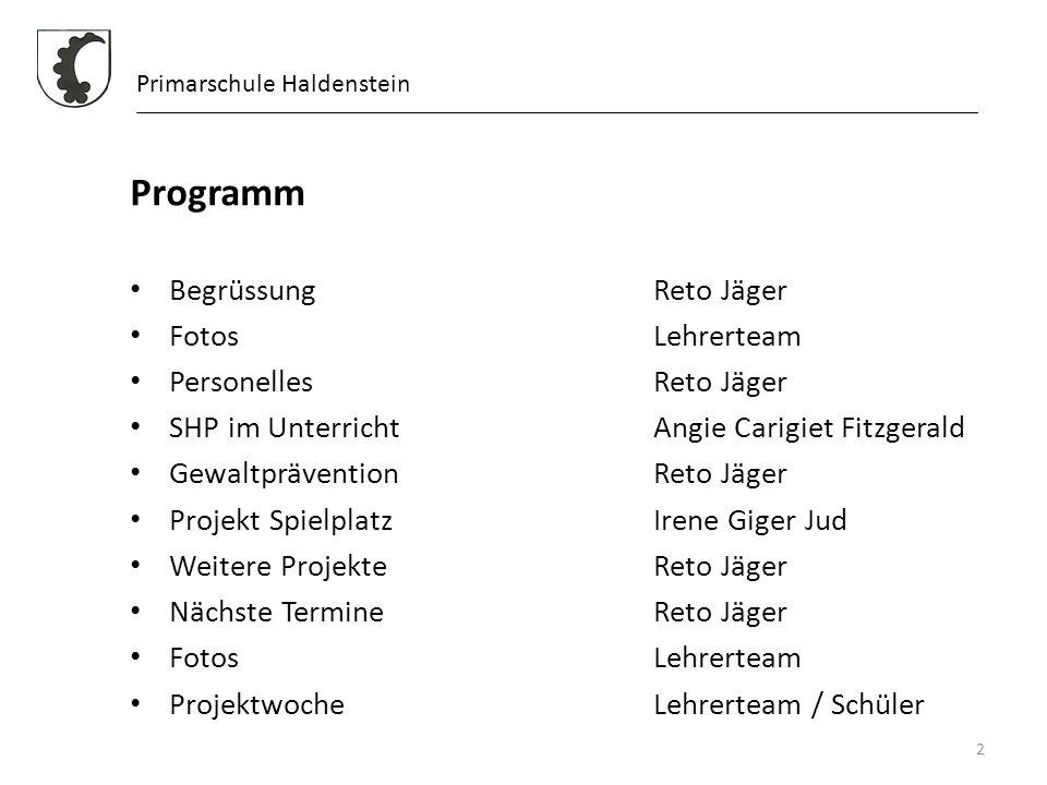 Programm Begrüssung Reto Jäger Fotos Lehrerteam Personelles Reto Jäger