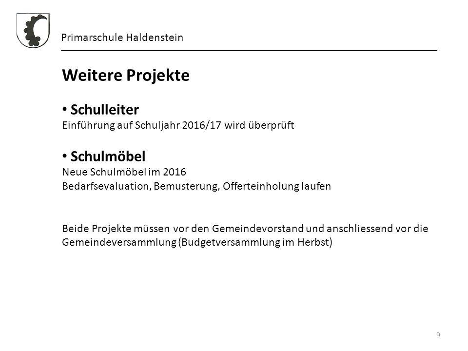 Weitere Projekte Schulleiter Schulmöbel Primarschule Haldenstein
