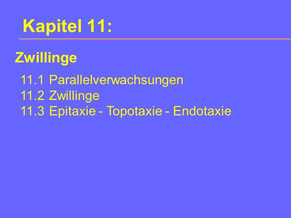 Kapitel 11: Zwillinge 11.1 Parallelverwachsungen 11.2 Zwillinge