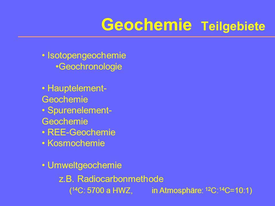 Geochemie Teilgebiete