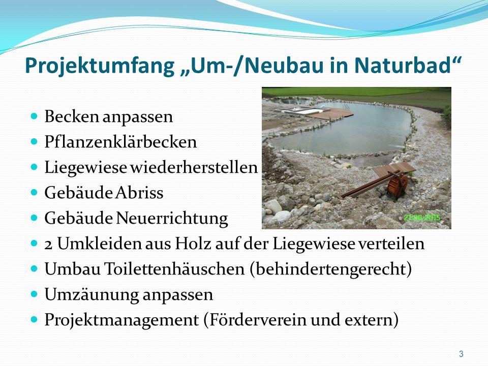 "Projektumfang ""Um-/Neubau in Naturbad"
