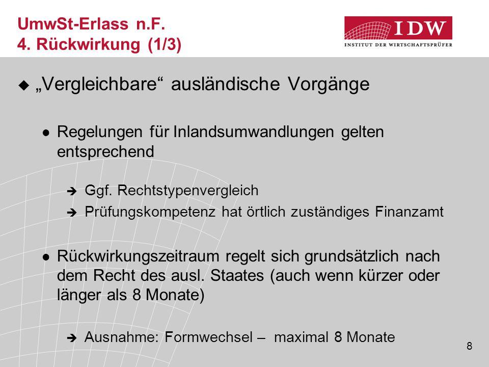 UmwSt-Erlass n.F. 4. Rückwirkung (1/3)