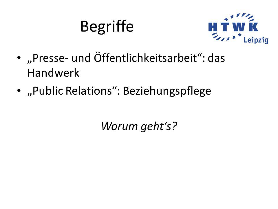 """Begriffe """"Presse- und Öffentlichkeitsarbeit : das Handwerk"""