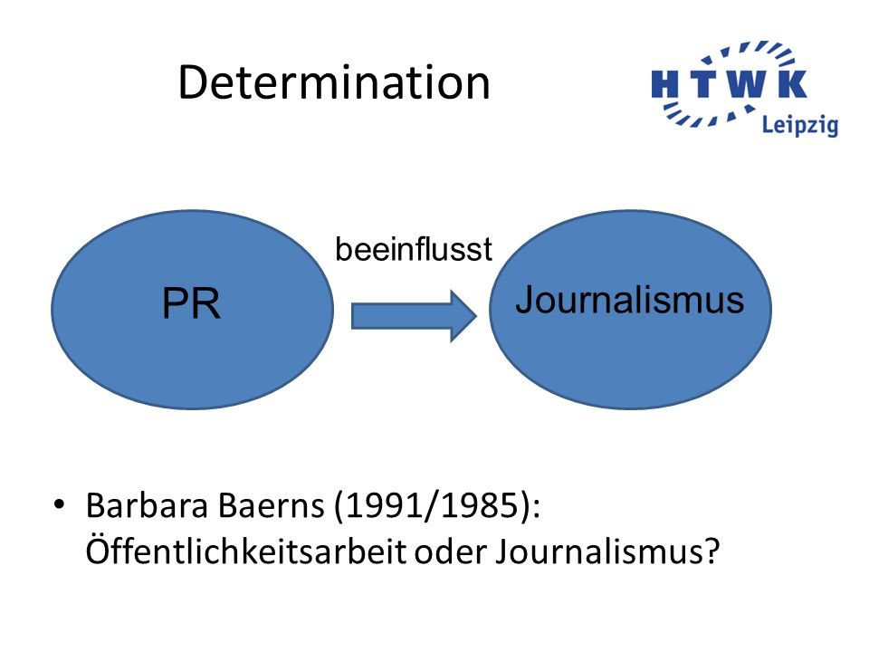 Determination PR Journalismus