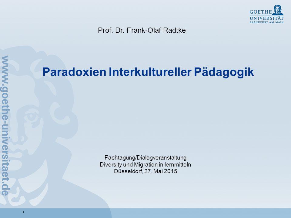 Paradoxien Interkultureller Pädagogik