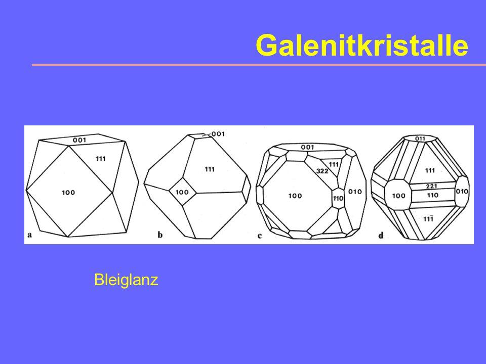 Galenitkristalle Bleiglanz