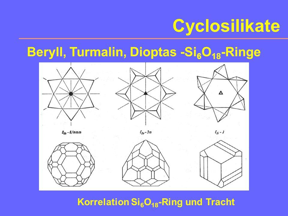 Beryll, Turmalin, Dioptas -Si6O18-Ringe