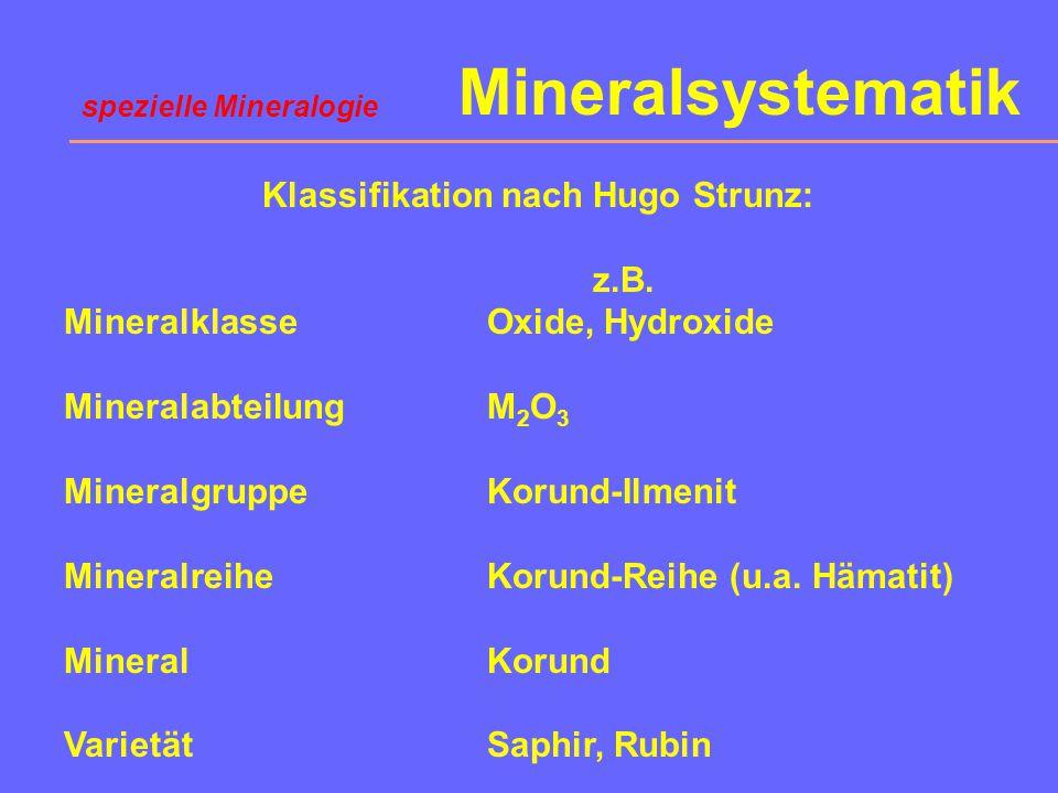 Klassifikation nach Hugo Strunz: