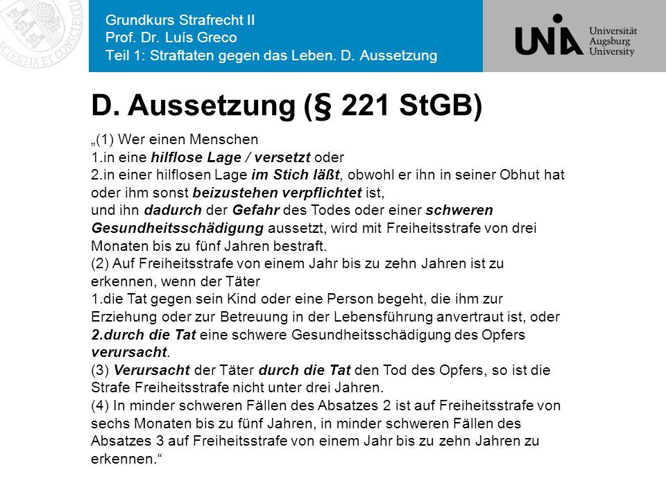 Grundkurs Strafrecht II Prof. Dr