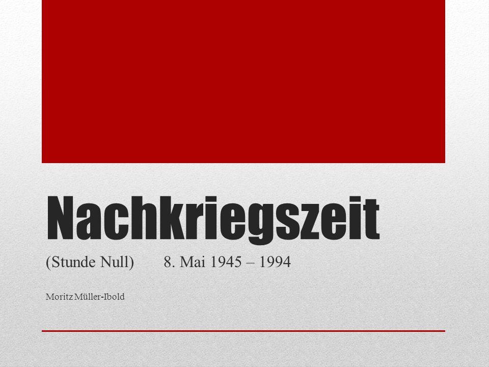 (Stunde Null) 8. Mai 1945 – 1994 Moritz Müller-Ibold