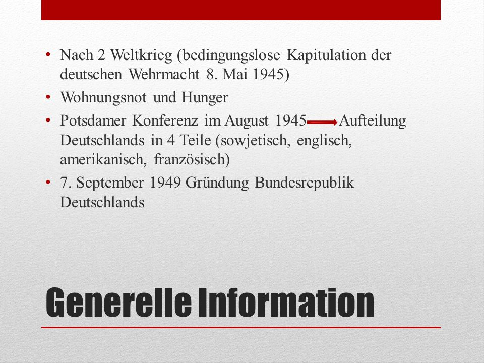 Generelle Information