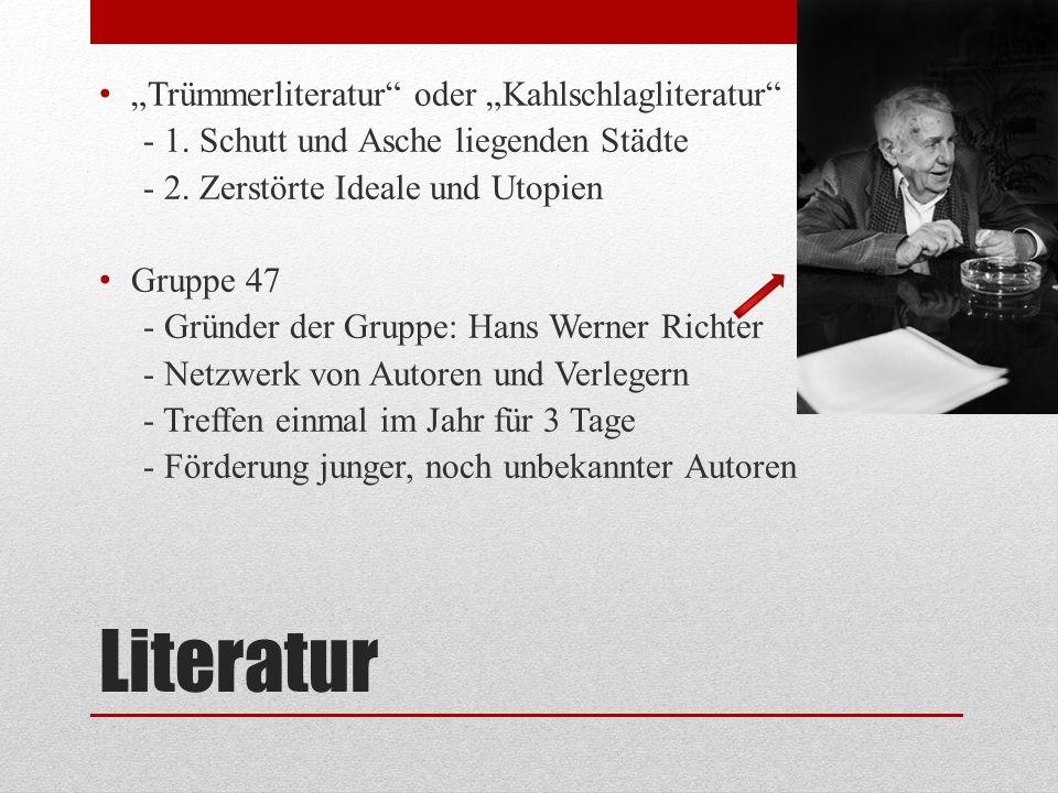 """Literatur """"Trümmerliteratur oder """"Kahlschlagliteratur"""