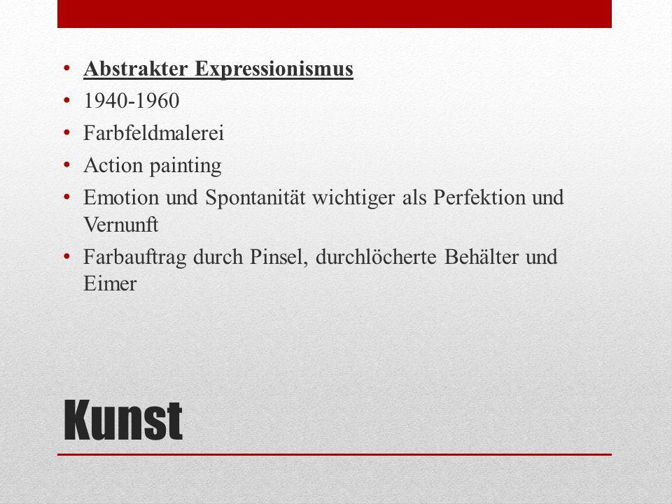Kunst Abstrakter Expressionismus 1940-1960 Farbfeldmalerei