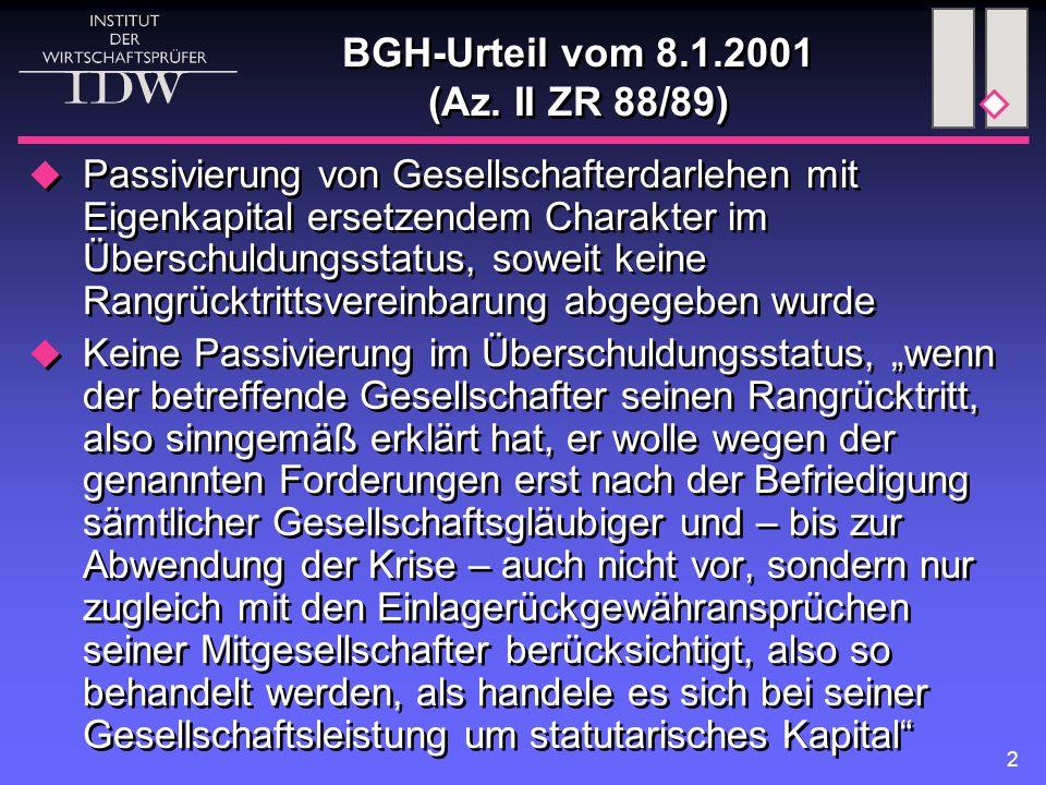 BGH-Urteil vom 8.1.2001 (Az. II ZR 88/89)