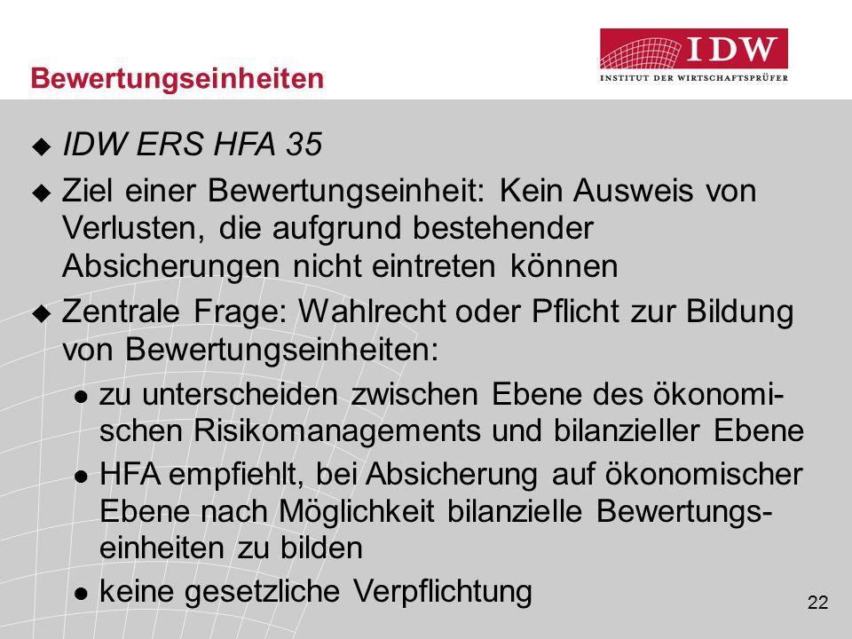 Bewertungseinheiten IDW ERS HFA 35.