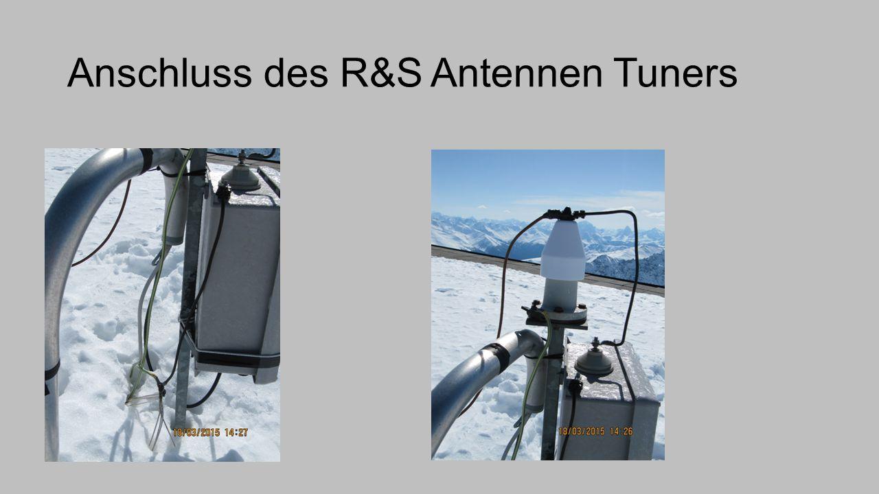Anschluss des R&S Antennen Tuners