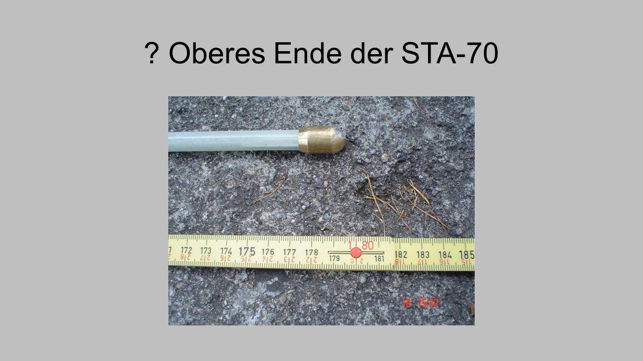 Oberes Ende der STA-70