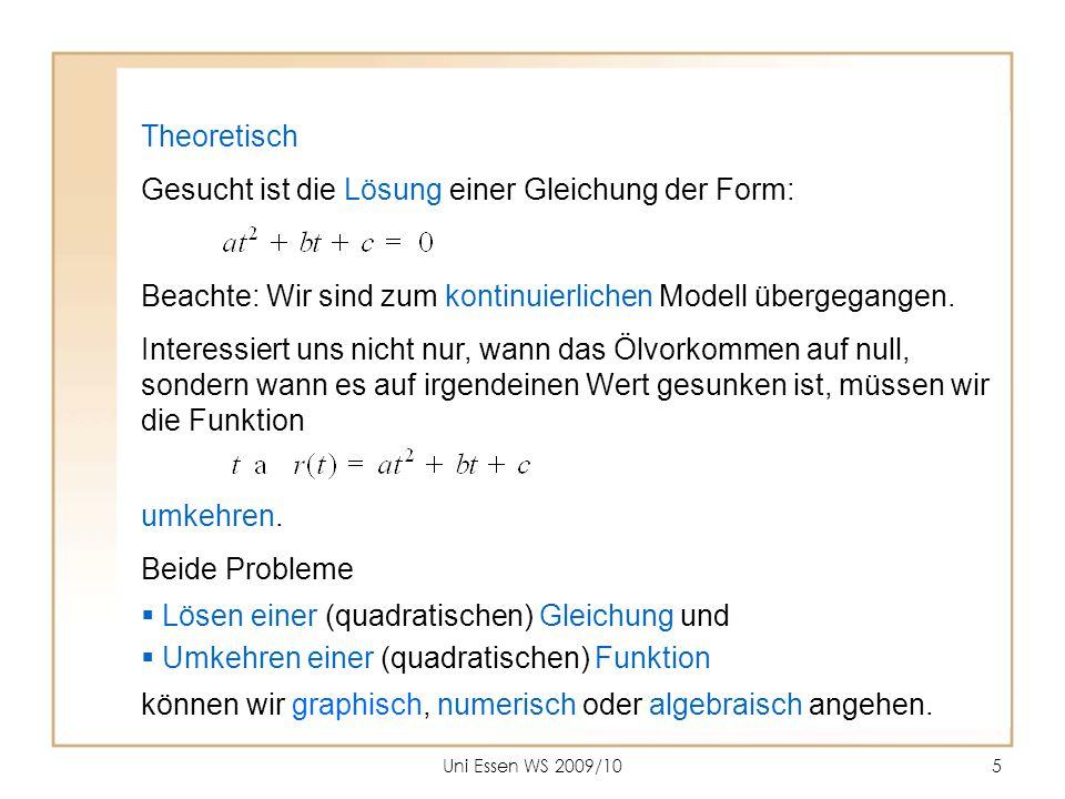 Gesucht ist die Lösung einer Gleichung der Form: