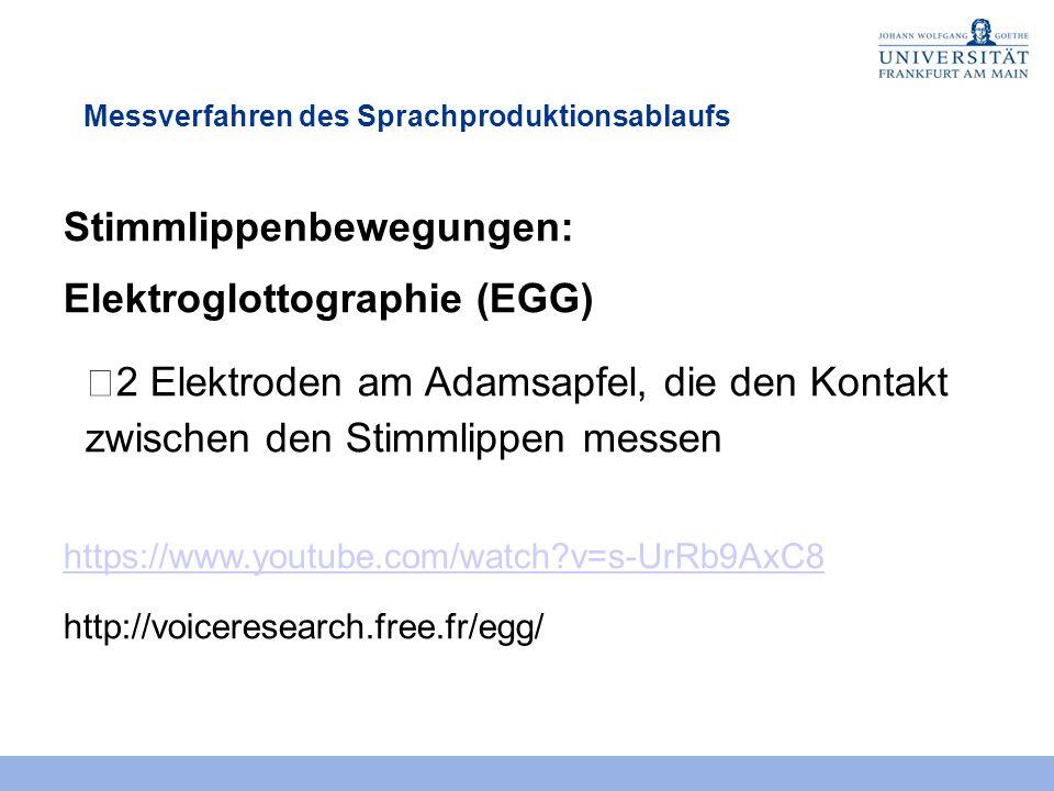 Stimmlippenbewegungen: Elektroglottographie (EGG)