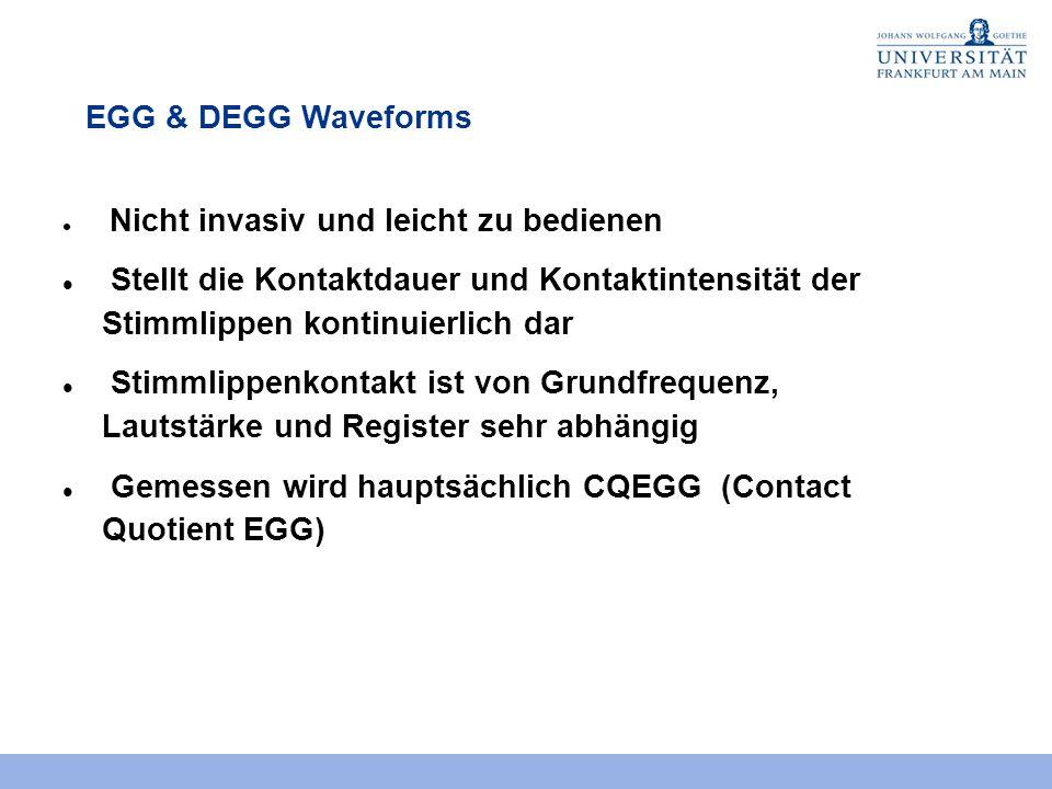 Gemessen wird hauptsächlich CQEGG (Contact Quotient EGG)