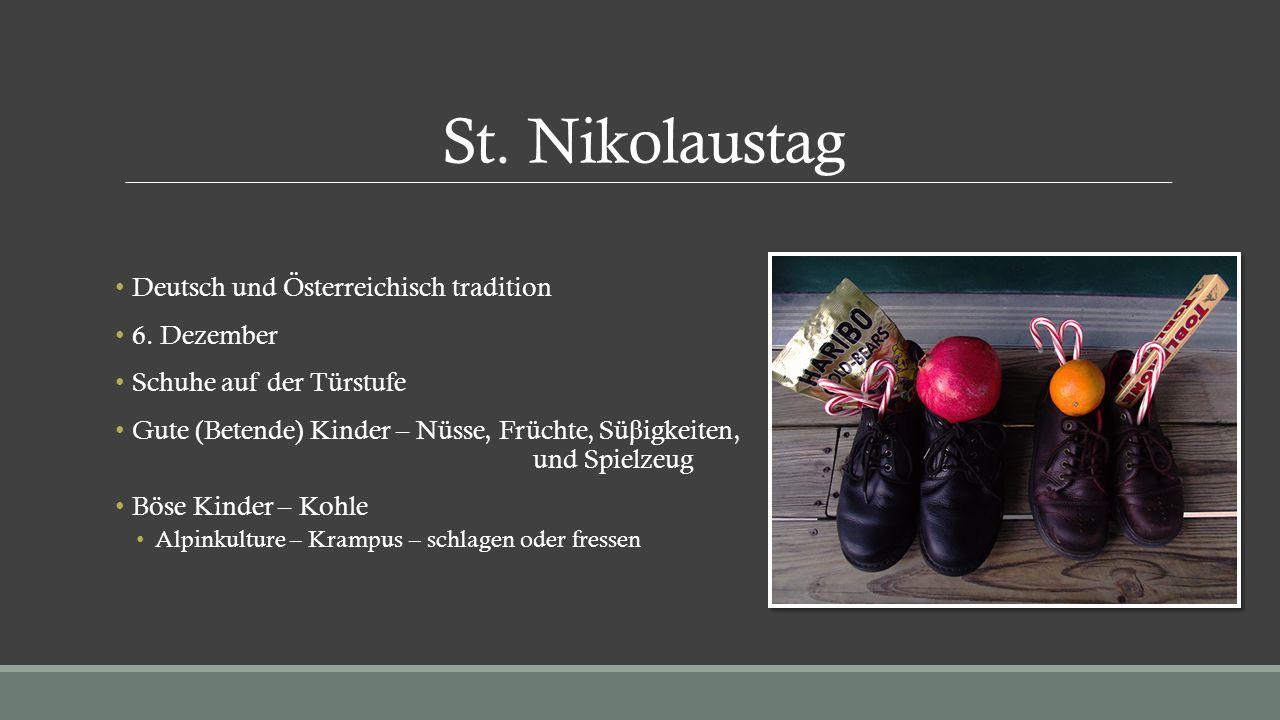 St. Nikolaustag Deutsch und Österreichisch tradition 6. Dezember
