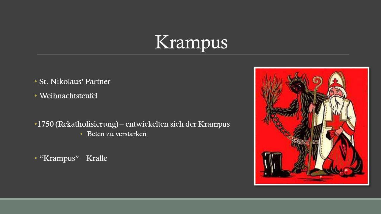 Krampus St. Nikolaus' Partner Weihnachtsteufel