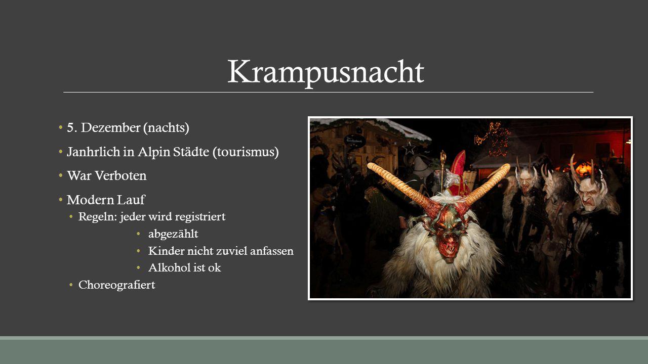 Krampusnacht 5. Dezember (nachts)