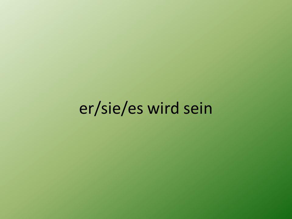er/sie/es wird sein