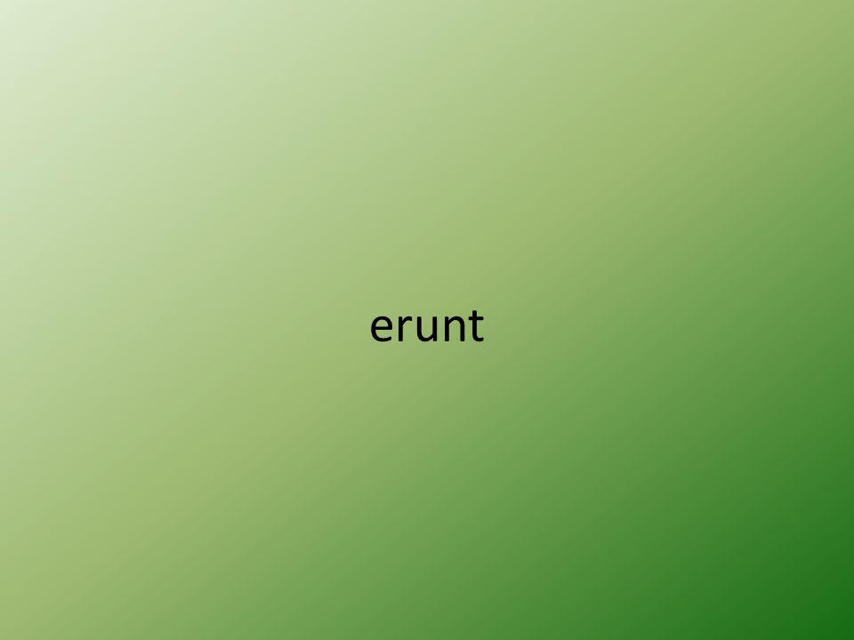 erunt