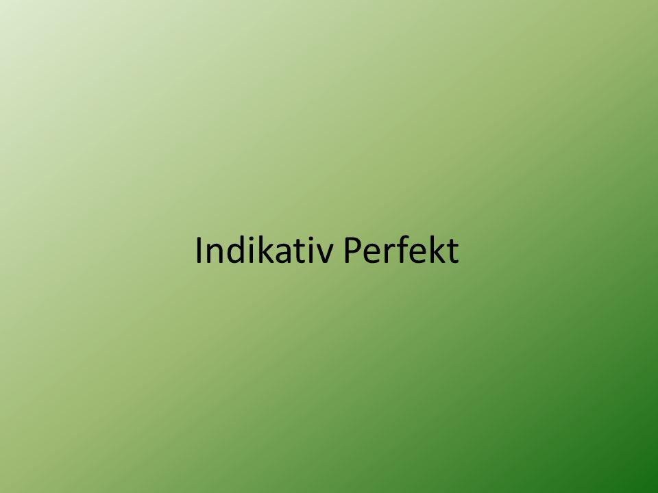 Indikativ Perfekt