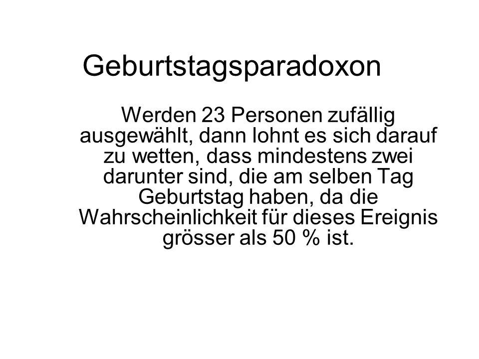 Geburtstagsparadoxon