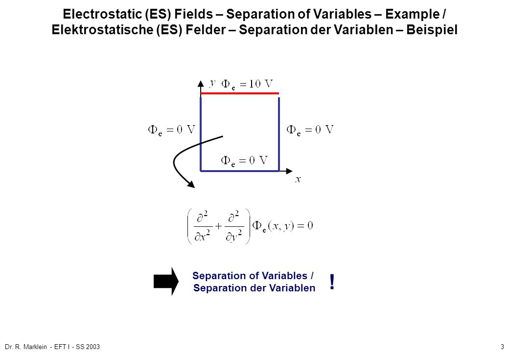 Separation of Variables / Separation der Variablen