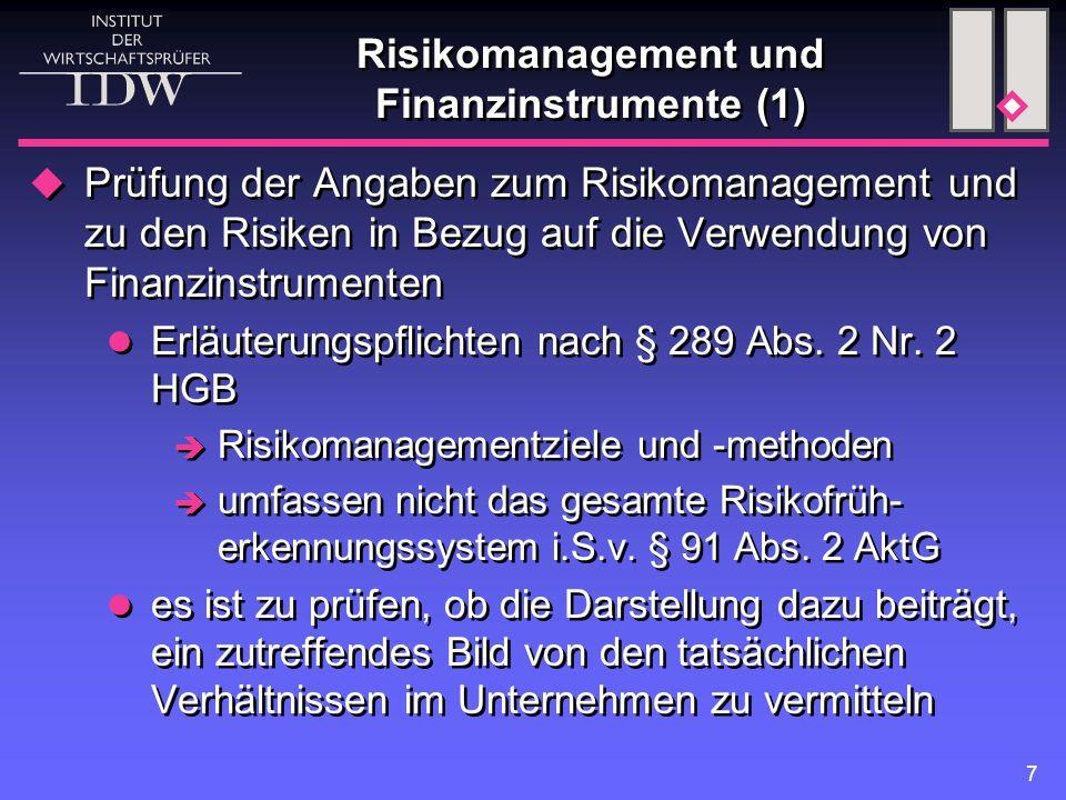 Risikomanagement und Finanzinstrumente (1)