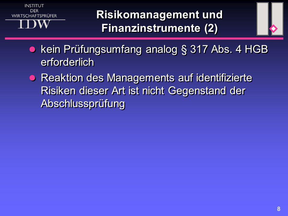 Risikomanagement und Finanzinstrumente (2)