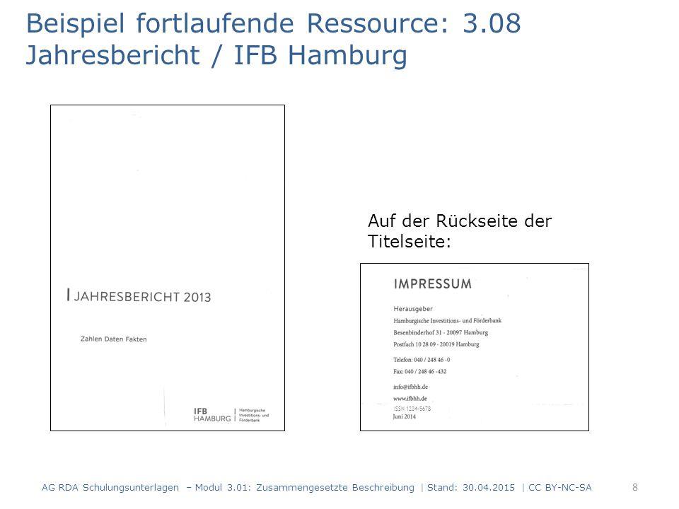 Beispiel fortlaufende Ressource: 3.08 Jahresbericht / IFB Hamburg