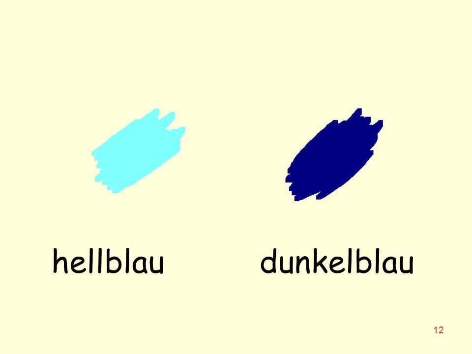 hellblau dunkelblau