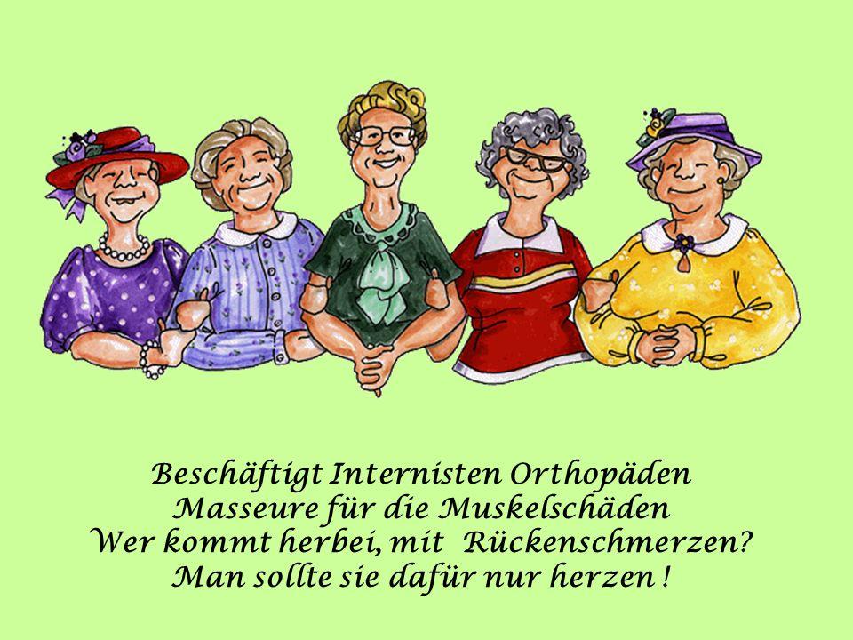 Beschäftigt Internisten Orthopäden Masseure für die Muskelschäden