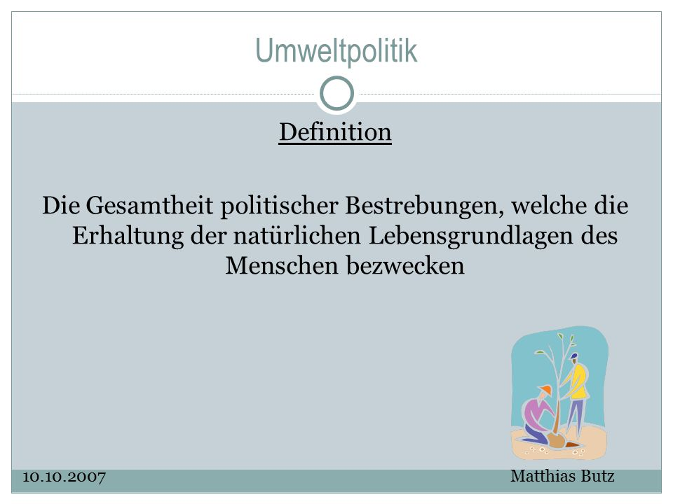 Umweltpolitik Definition