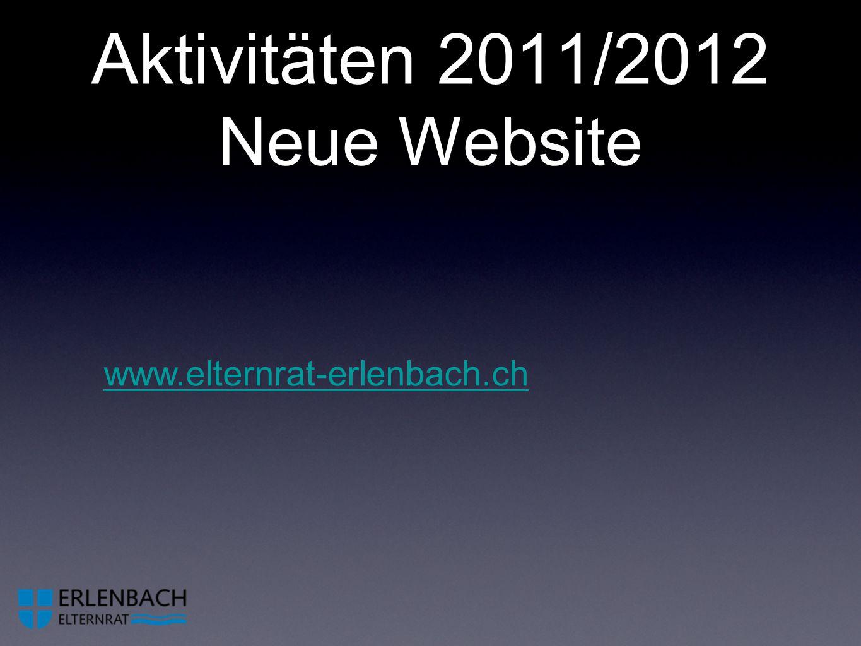 Aktivitäten 2011/2012 Neue Website